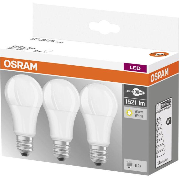 alles OSRAM LED žarulja E27 13W/827 3/1 pak
