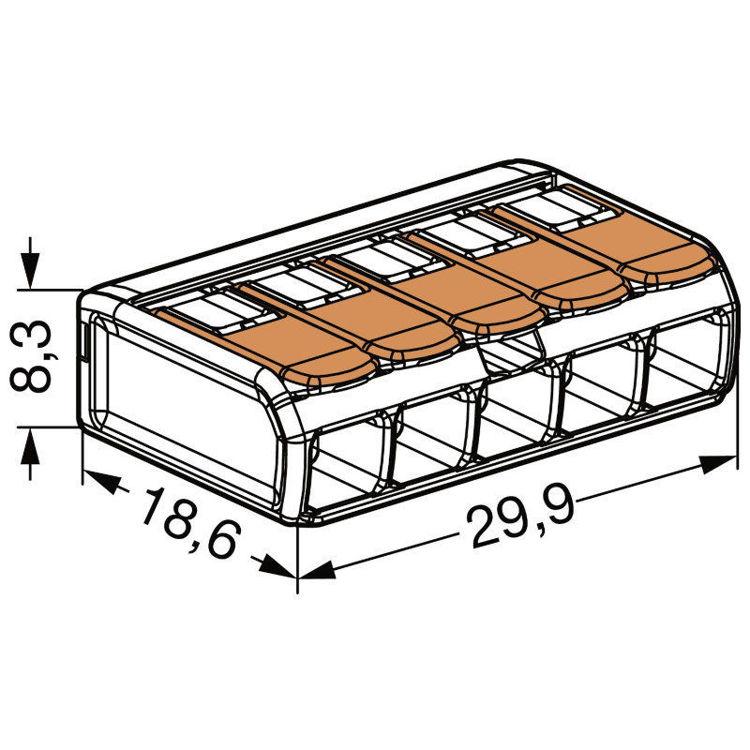 Alles WAGO stezaljka Flexi 221415 5x2,5