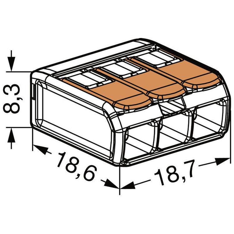 Alles WAGO 221413 stezaljka Flexi 3x2,5