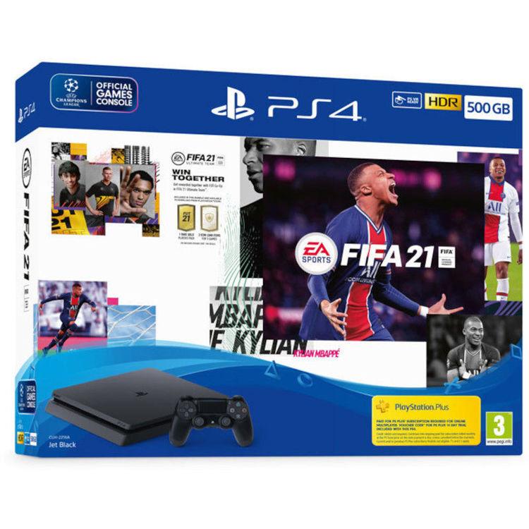 Alles PlayStation 4 500GB F Chassis Black + FIFA 21 + FUT VCH + PS Plus 14dana
