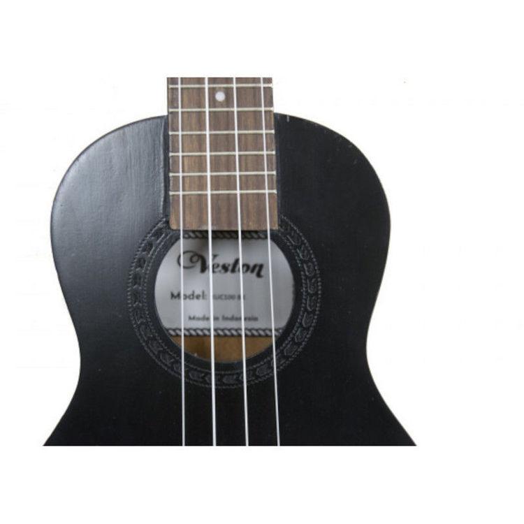 Alles VESTON ukulele KUC100 BK koncert CRNA
