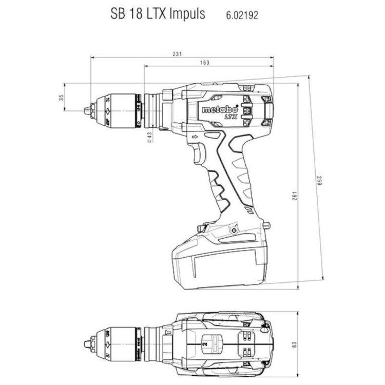 Alles METABO akumulatorska bušilica-odvijač SB18 LTX IMPLUS SET