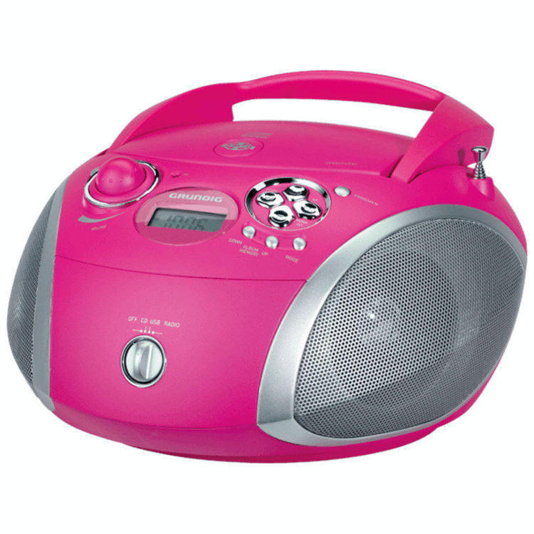 Alles GRUNDIG radio CD player GRB2000 PINK/SILVER