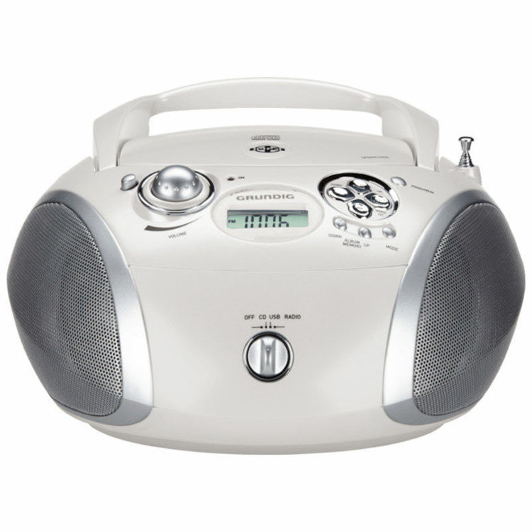 Alles GRUNDIG radio CD player GRB2000 BISERNO BIJELA/SREBRNA