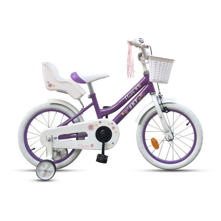 """Alles Bicikli 16"""" FLOWER LJUBIČASTO-BIJELI"""