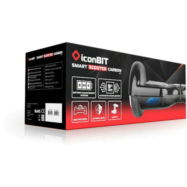 """Alles ICONBIT Hoverboard Smart 6,5"""" Carbon"""
