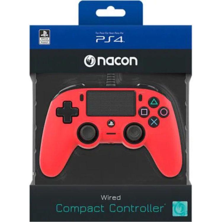 Alles BIGBEN kontroler PS4 Wired Nacon, CRVENI