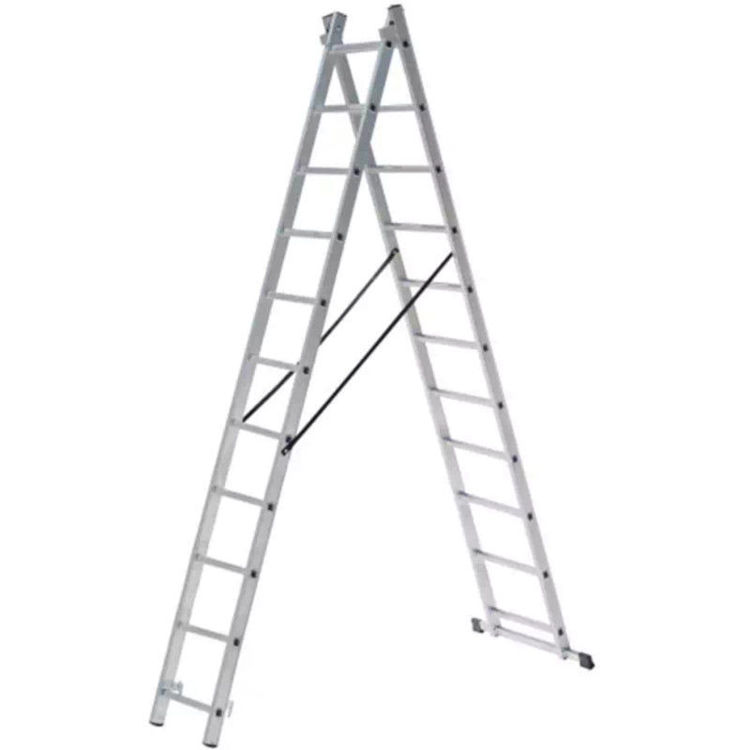 Alles Ljestve aluminijske dvodjelne 2x11 gazišta