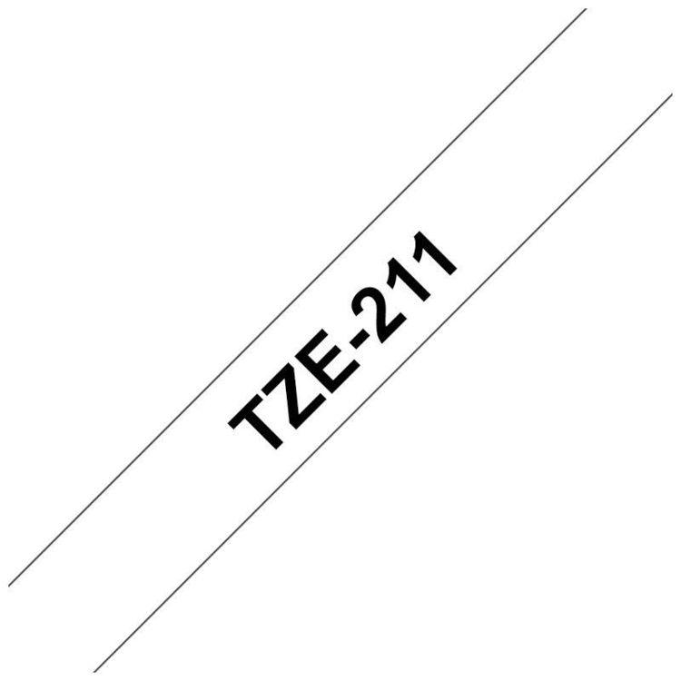 Alles BROTHER traka za označavanje TZE211 BIJELA-CRNA