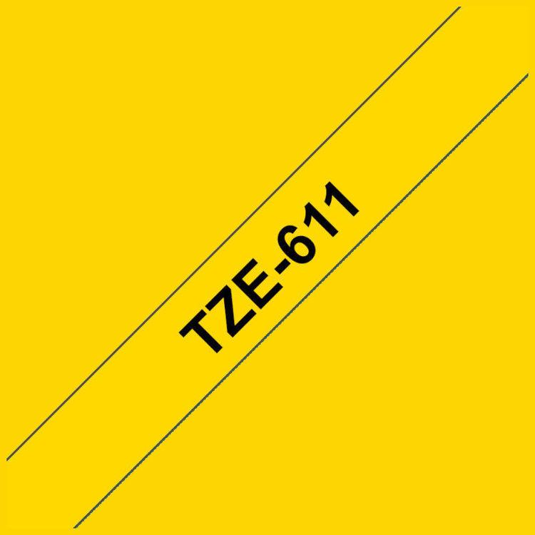 Alles BROTHER traka za označavanje TZE611 ŽUTA-CRNA