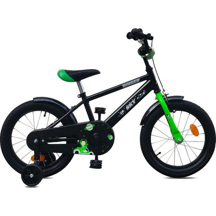 """Alles SKY bicikl 16"""" ROCKET CRNO-ZELENI"""
