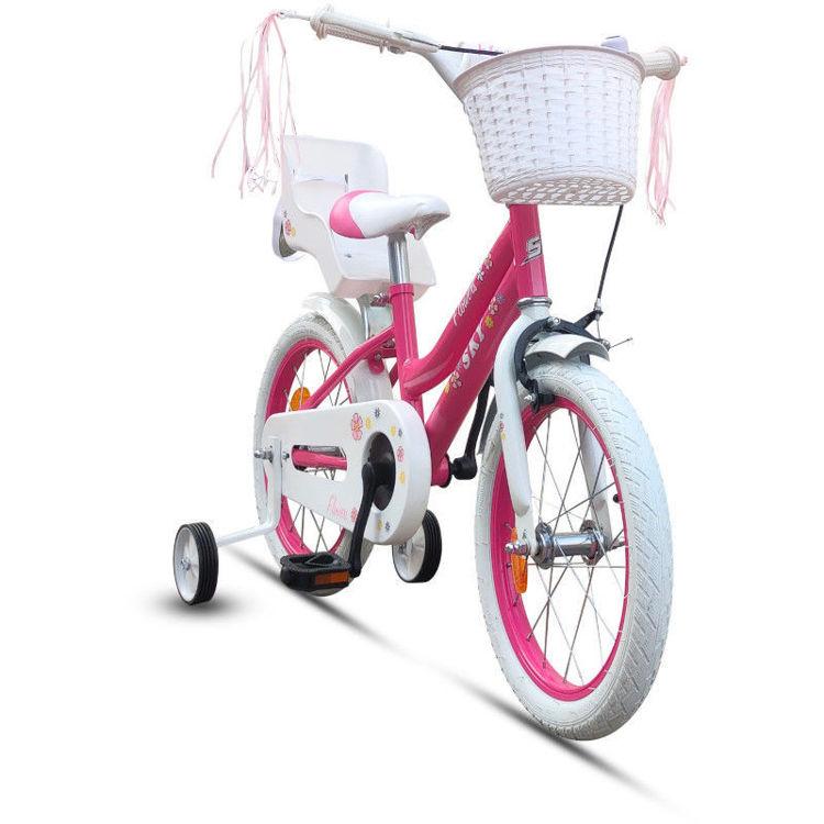 """Alles SKY bicikl 16"""" FLOWER ROZO-BIJELI"""