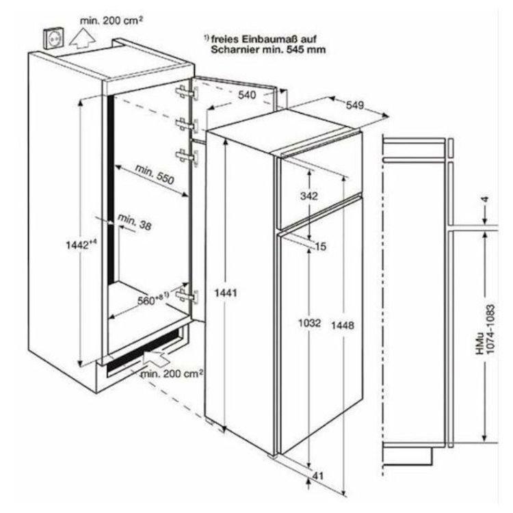 Alles ELECTROLUX hladnjak ugradbeni EJN2301AOW