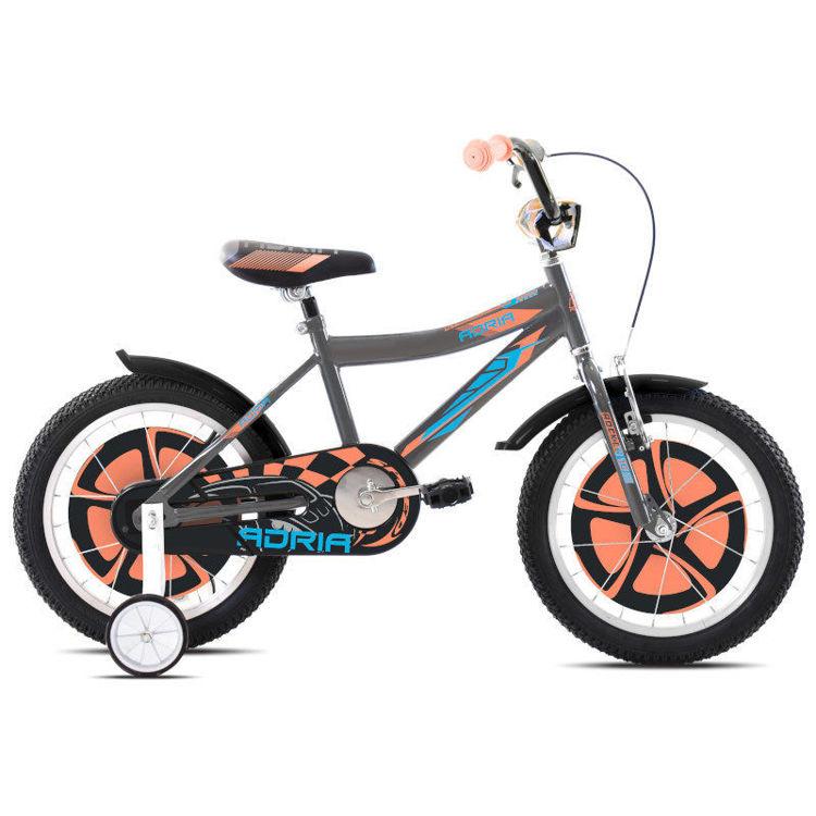 """Alles CAPRIOLO bicikl ADRIA ROCKER 16"""" SILVER ORANGE"""