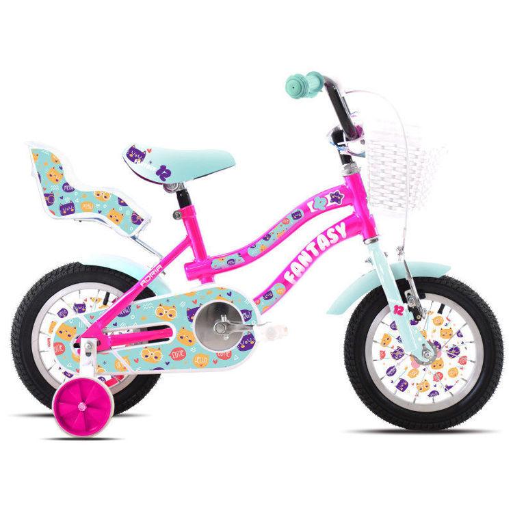 "Alles CAPRIOLO bicikl ADRIA FANTASY 12"" PINK-TIRKIZ"