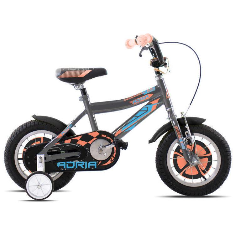 """Alles CAPRIOLO bicikl ADRIA ROCKER 12"""" SILVER-ORANGE"""