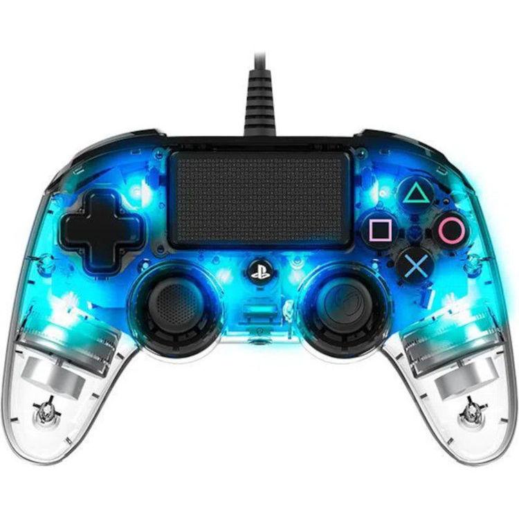 Alles BIGBEN kontroler PS4 Nacon Compact Light Wired, PROZIRNO-PLAVI