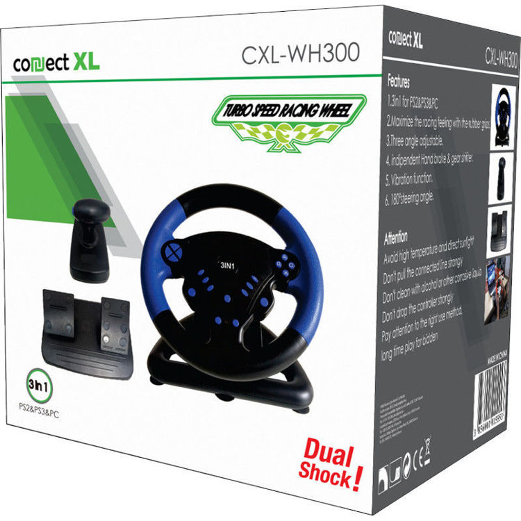Alles CONNECT XL Gaming volan 3u1, PS2/PS3/PC CXL-WH300