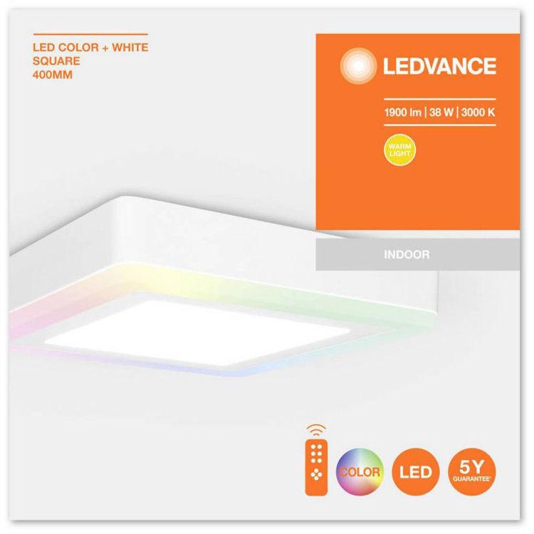 Alles LEDVANCE LED svjetiljka COLOR + WHITE SQ 400 mm 38 W